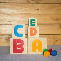 Eco-Friendly Wooden Stacking Cubes