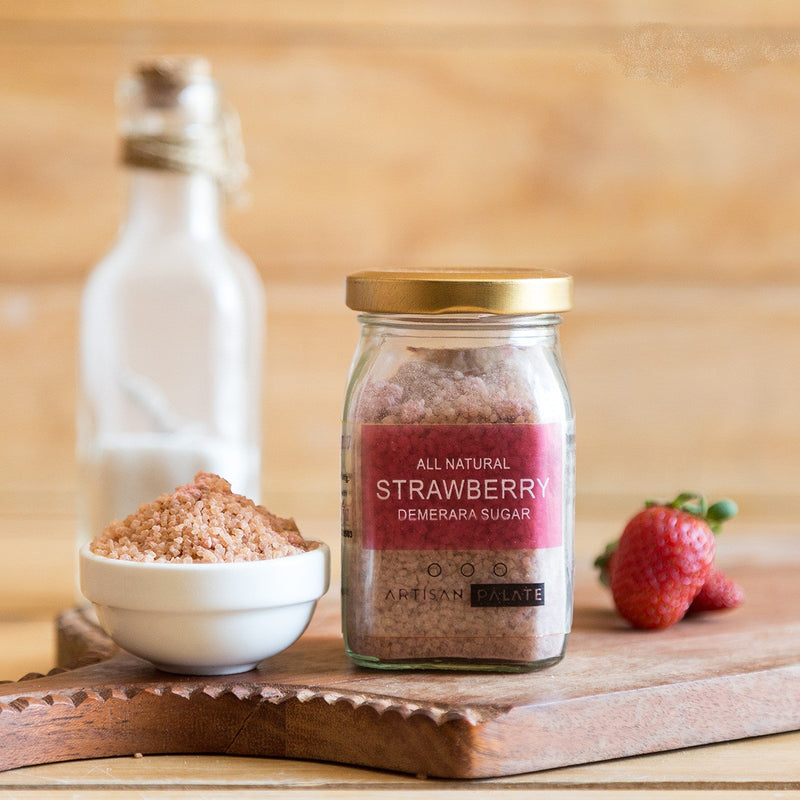 All Natural Strawberry Demerara Sugar