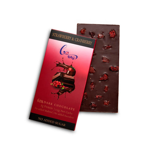 Strawberry & Cranberry (62% Dark Chocolate)(Pack of 2)