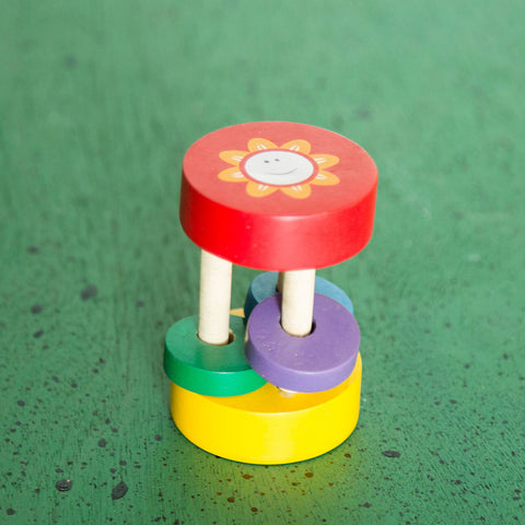 Eco-Friendly Wooden Sunny Rattle