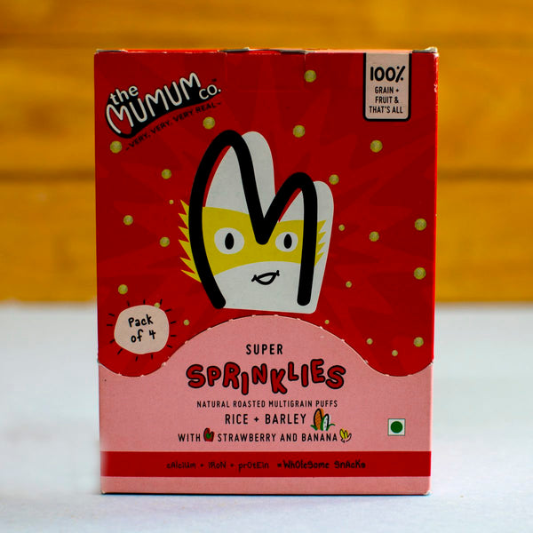 Super Sprinklies Healthy Multigrain Cereal Snacks (Strawberry and Banana) (Pack of 2 Boxes) at Qtrove