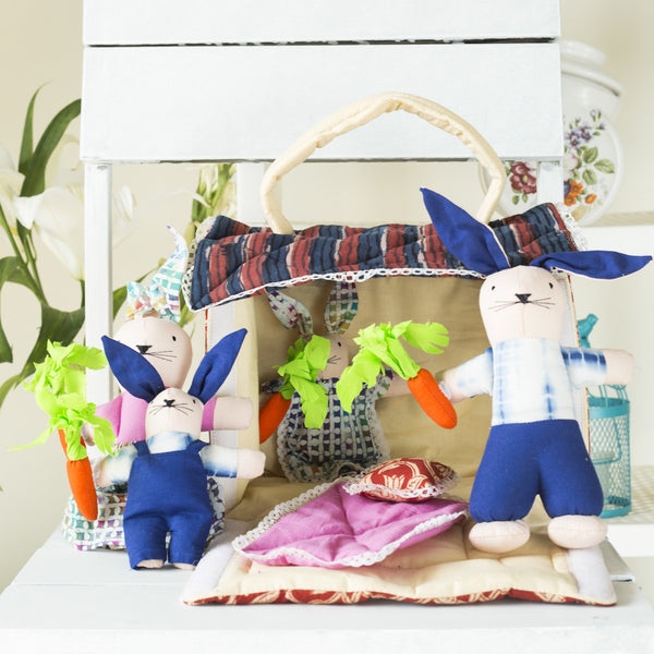 Hand Stitched Bunny House Activity Toys at Qtrove