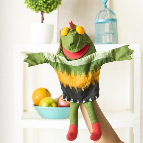 100% Cotton Frog Hand Puppets