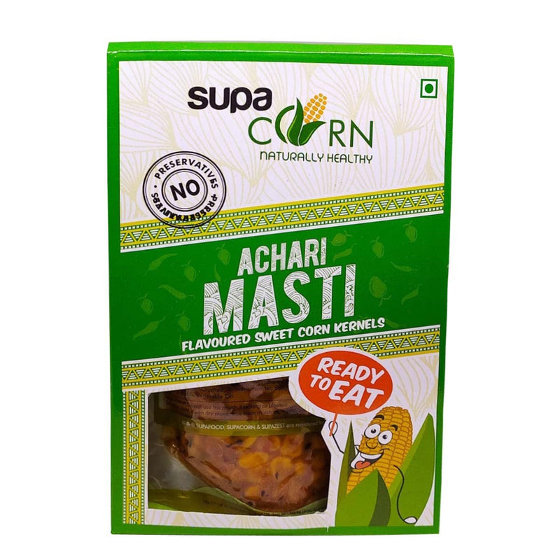 Sweet Corn Kernels with Achari Masti Flavour (Pack of 6)