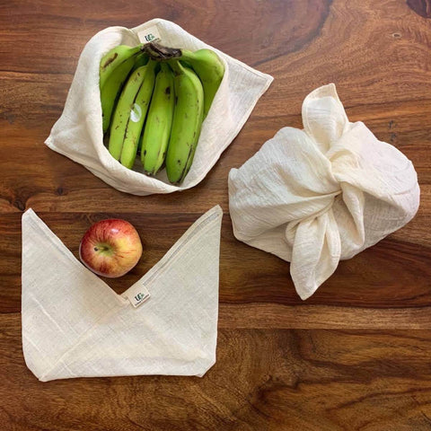 Tanuka  Utility Bento Bag in Organic Cotton (Set of 3)