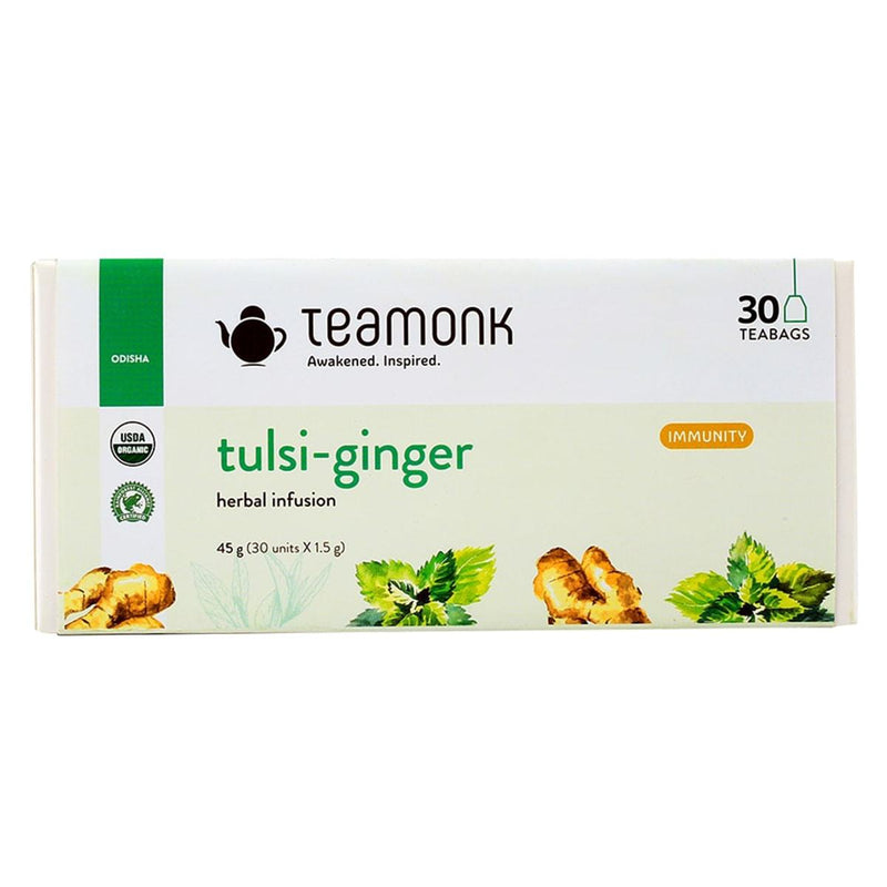 Tulsi-Ginger Herbal Infusion Tea (30 Teabags)