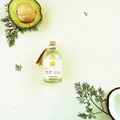 Pre/After Bath Oil (Tender Skin Baby Oil) (Oil From Tender Coconut Milk With Avocado & Vitamin E)