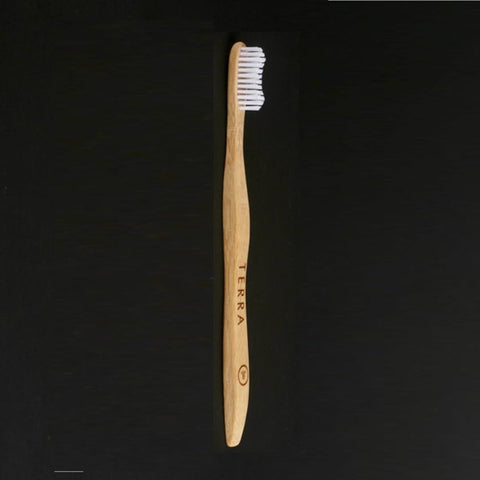 Bamboo Toothbrush For Adults (White) (Pack of 2)