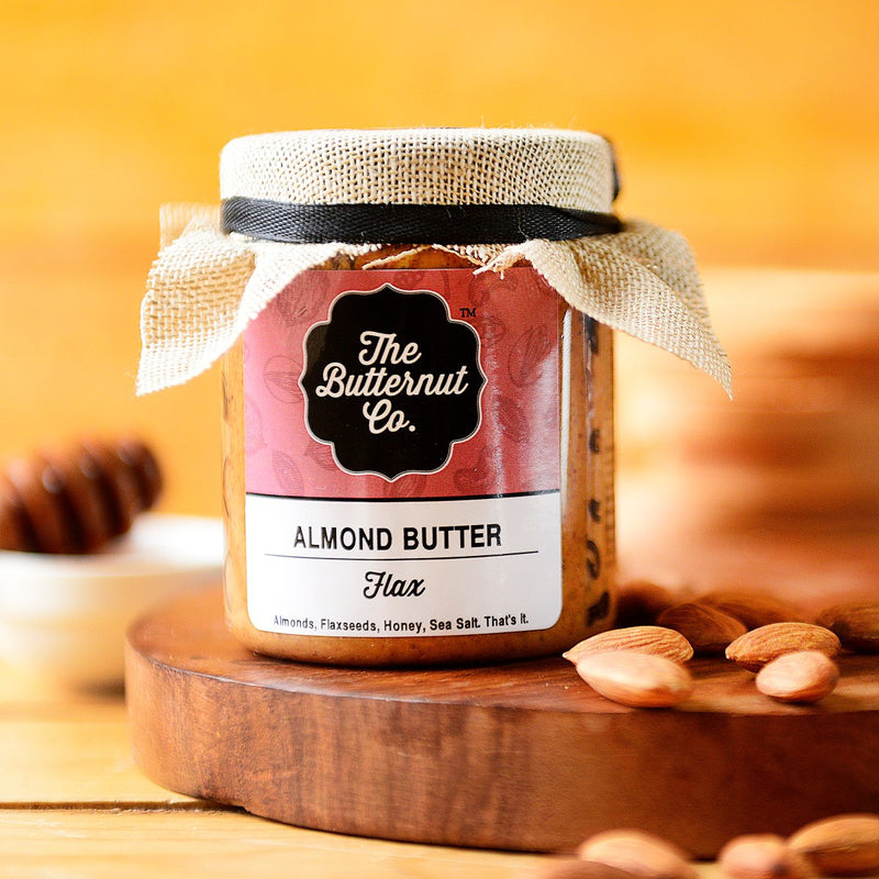 Preservative-Free Flaxseed Almond Butter