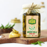 Homemade Green Chilli Extra Hot Pickle