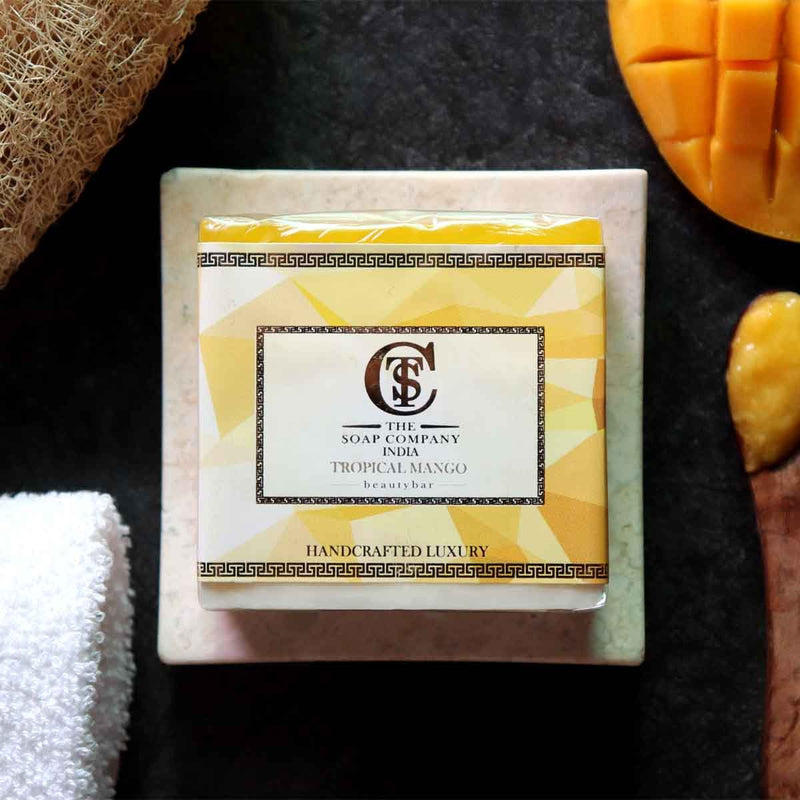 Handcrafted Luxury Tropical Mango Soap (Pack of 2)