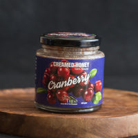 100% Natural Cranberry Creamed Honey