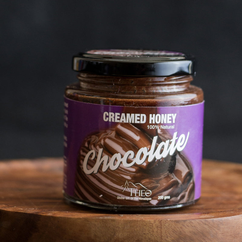 Raw Chocolate Creamed Honey