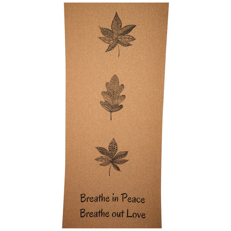Three Leaves Cork Yoga Mat