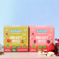 Mini Oaty Bites Mix Flavours (Nuts & Berries And Apple & Kiwi) - Pack of 2