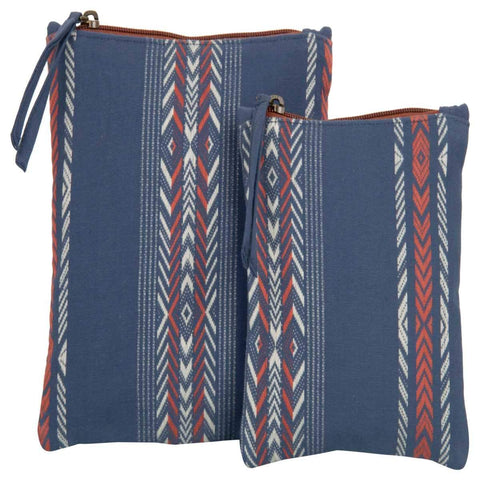 Cosmetic Ash Blue Pouch ( Set of 2 )