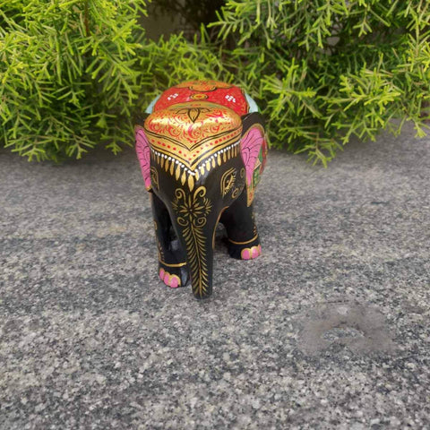 Traditional Hand Painted Wooden Elephant