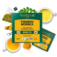 Turmeric Moringa Herbal Tea (15 Pyramid Tea Bags)