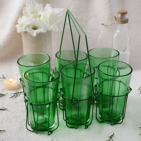 Artisan Green Chai Glass Set