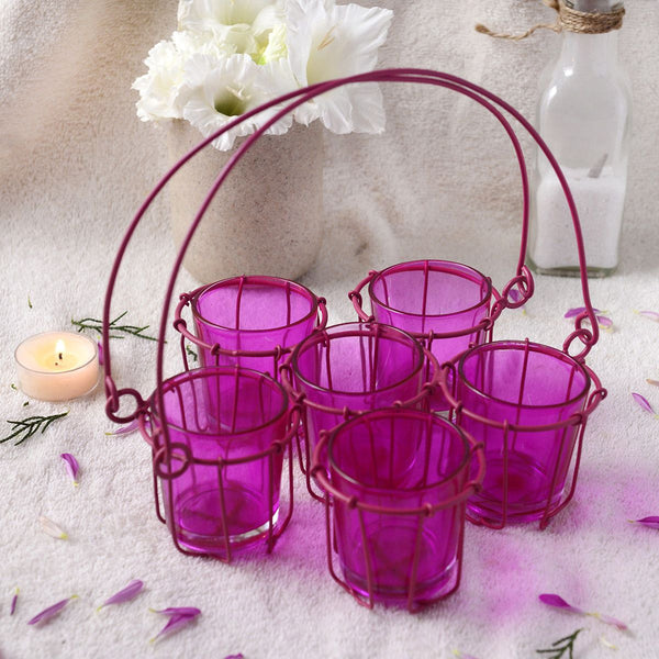 Artisan Pink Chai Glass Set
