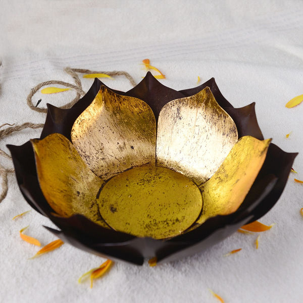 Handcrafted Large Lotus Candle Holder