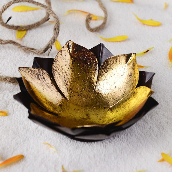 Handcrafted Small Lotus Candle Holder