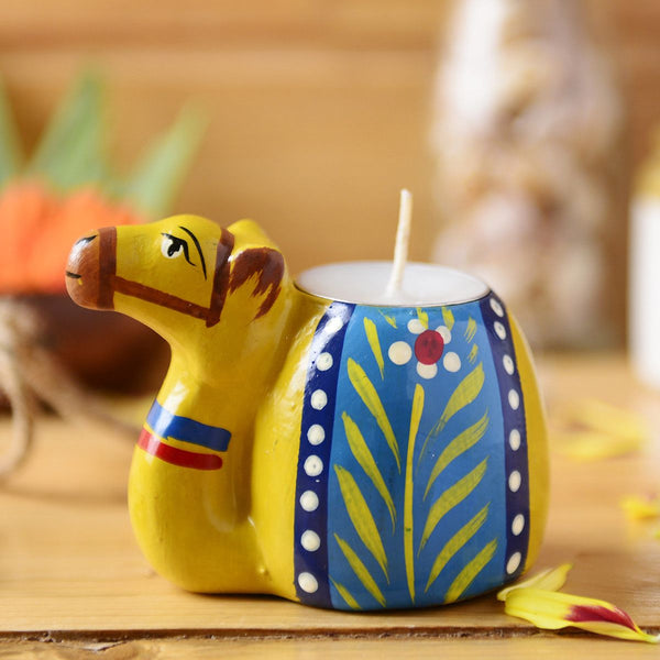 Handmade Camel Candle Holder From The Tales Of Panchatantra