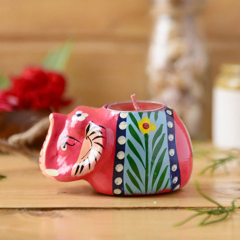 Handmade Elephant Candle Holder From The Tales Of Panchatantra