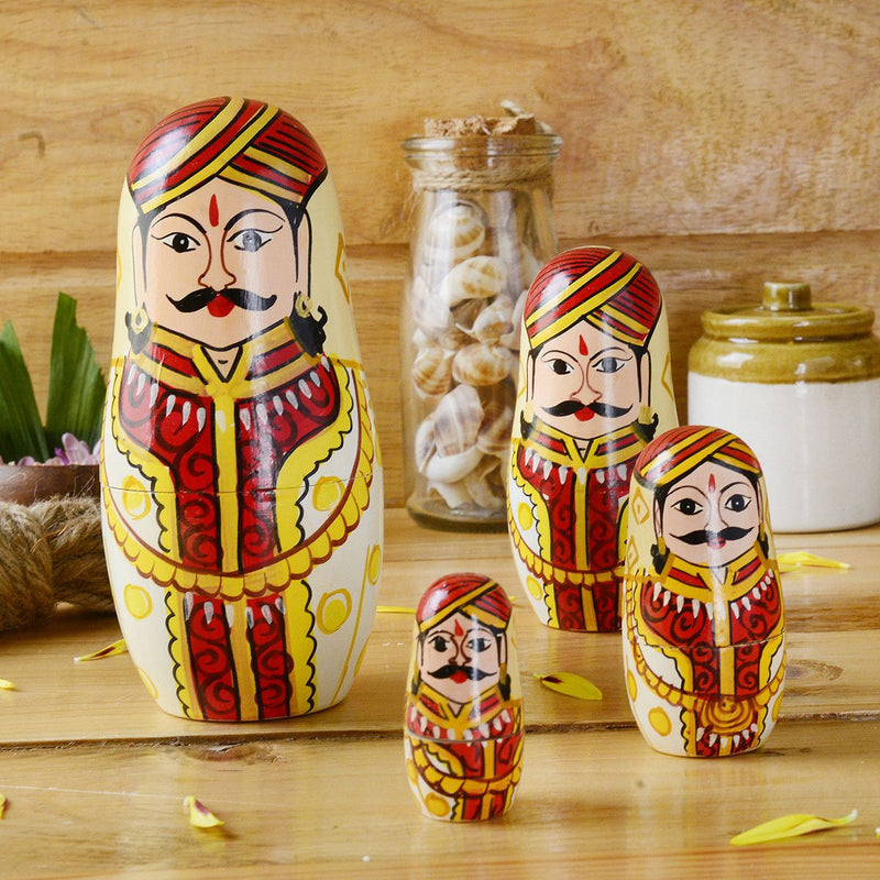 Hand Painted Raja Mathrushka Dolls
