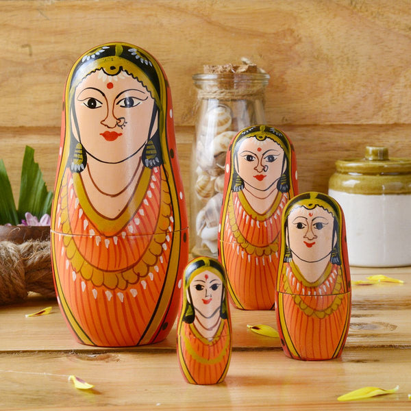 Hand Painted Rani Mathrushka Dolls