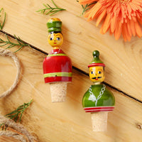 Raja Rani Hand Painted Wine Stopper