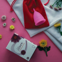 iCare Menstrual Cup (Hygienic, Before Delivery / Upto Age 25 Years) (Small Size)
