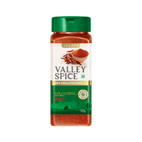 Valley Spice Select - Red Chilli Powder - Hot & Bold (Pack of 4)
