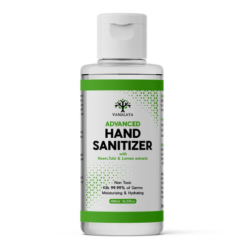 Hand Sanitizer Alcohol Based (With Neem, Tulsi & Lemon Extracts) - 480 ml