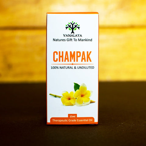 Vanalaya champak Essential oil 100% Pure and Natural Therapeutic grade Steam distilled oil for skin care and Aromatherapy