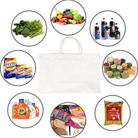 Vegetable Shopping Grocery Bag  (With 6 Pockets & Long Handle)