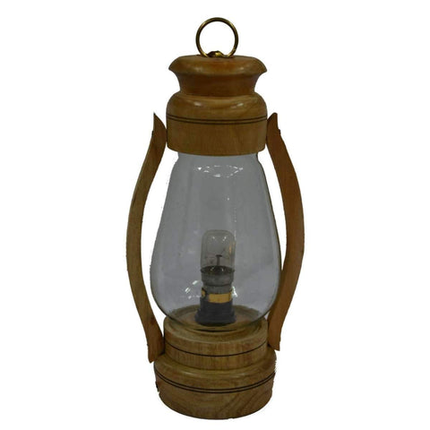 Vintage Style Wooden Handcrafted Electric Lantern
