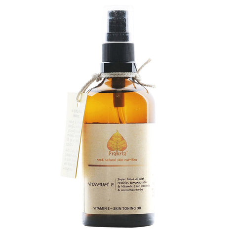 Skin Toning Oil (Vita 'MUM' E) (Super Blend Oil With Rosehip, Tamanu Oil & Natural Coffee Extract)