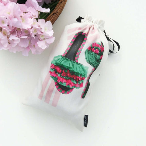 Women's Shoe Bags {retro blush} - 3 Bags
