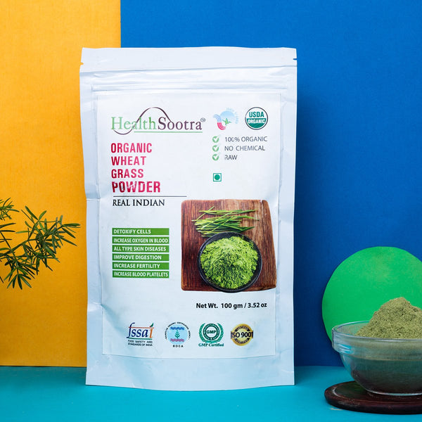 100% Organic Wheat Grass Powder at Qtrove