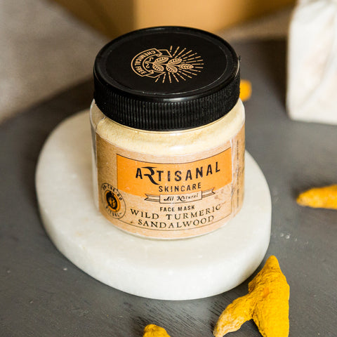 Chemical Free Wild Turmeric Sandalwood Face Mask