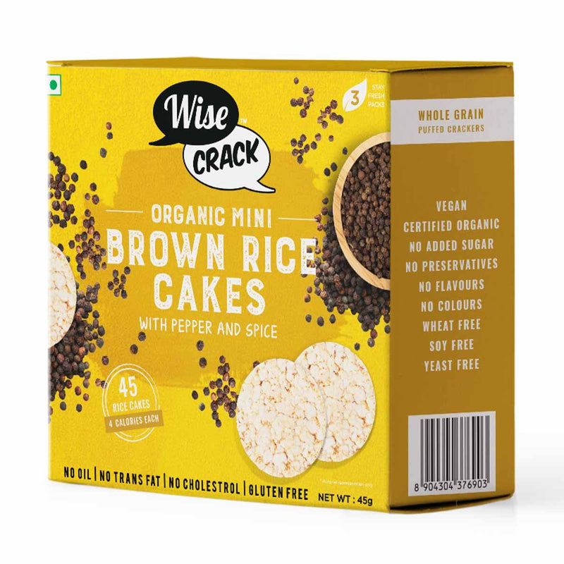 Organic Brown Rice Cakes Pepper And Spice (3 Pack)