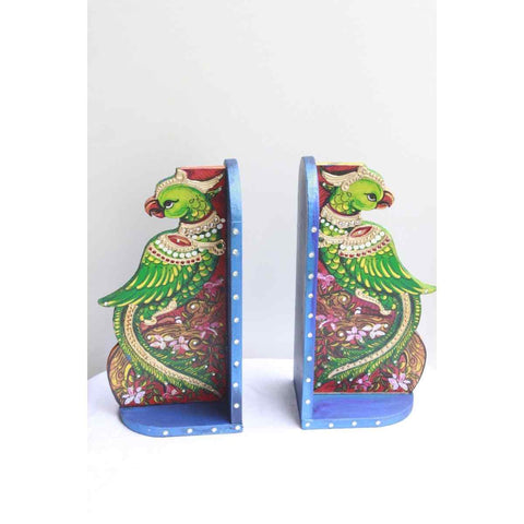 Wooden Bookends With Tanjore Art Painting