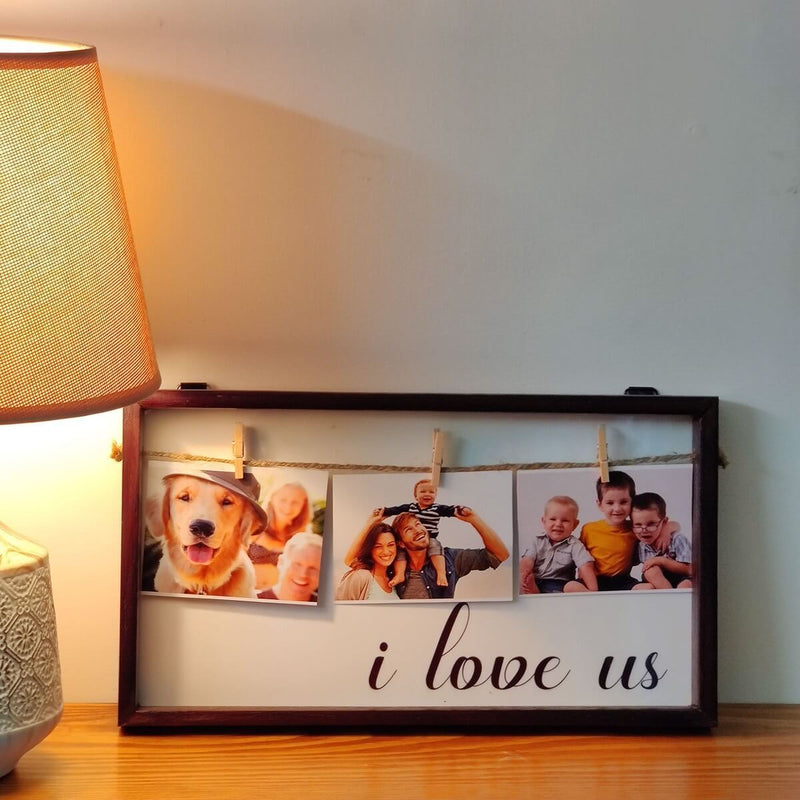 Wooden Framed Sign Without Glass | I Love Us