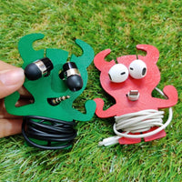 Wooden Monster Earphone Organizer
