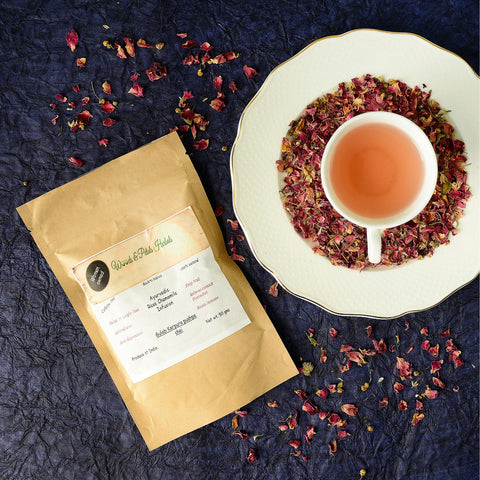 Summer Cooler Rose Chamomile Tea (Caffiene Free, Calorie Free)