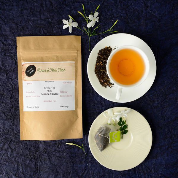 Darjeeling Green Tea With Sundried Jasmine Flower at Qtrove
