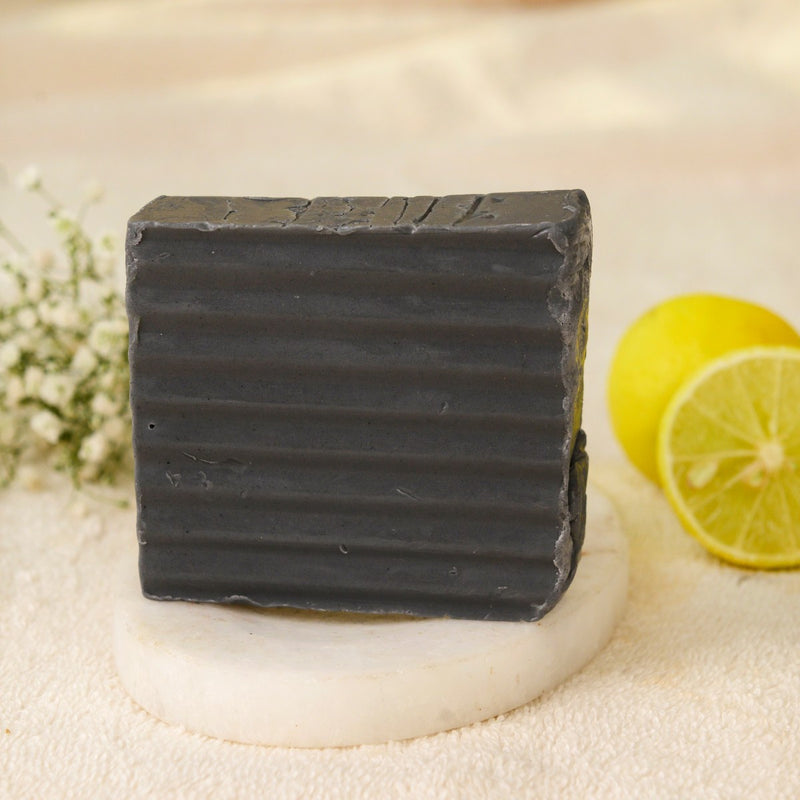 Handmade Real Charcoal Lemon Soap (Set of 2)