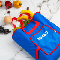 Yomad Foldable grocery shopping bag (Pocket )Blue.