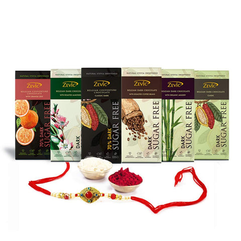 Chocolate Assortment Rakhi Hamper (Pack of 6)